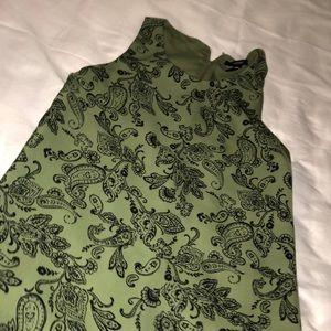 Army green loose dress